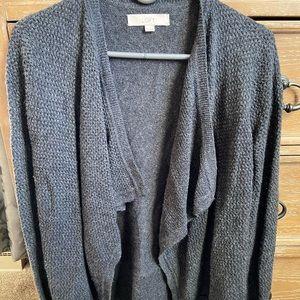 🌈 Anne Taylor LOFT Top, Cardigan, Gray, Size XS